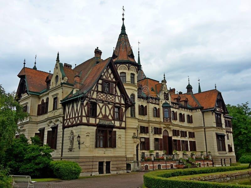 Castle Lesna at ZOO Lesna, Zlin, Czech Republic. Image stock photos