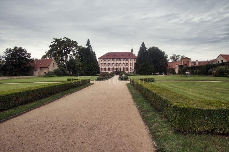Castle in Libochovice in Tsjechië royalty-vrije stock afbeeldingen