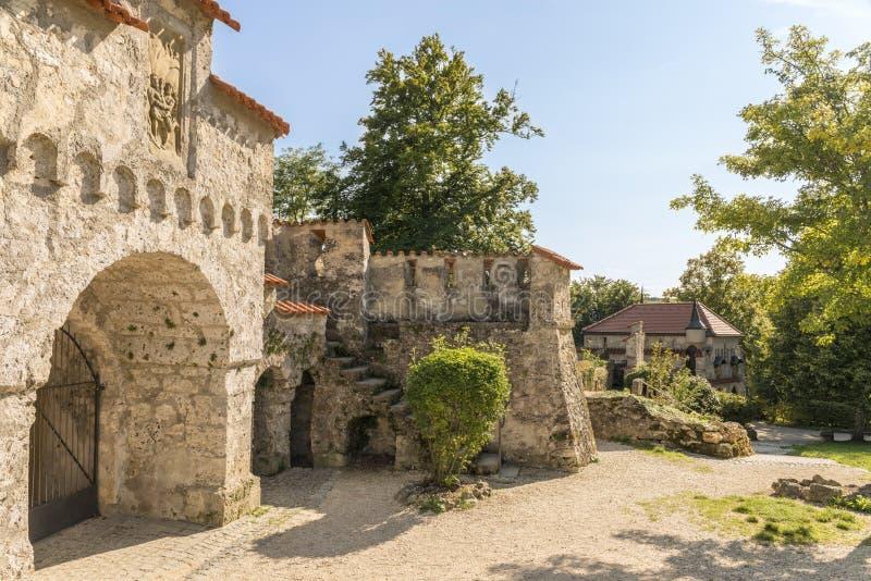 Castle Lichtenstein - Auxiliary buildings stock image