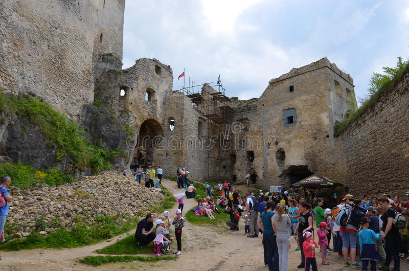Castle Lietava, κάστρο ιστορίας της Σλοβακίας στοκ εικόνα με δικαίωμα ελεύθερης χρήσης