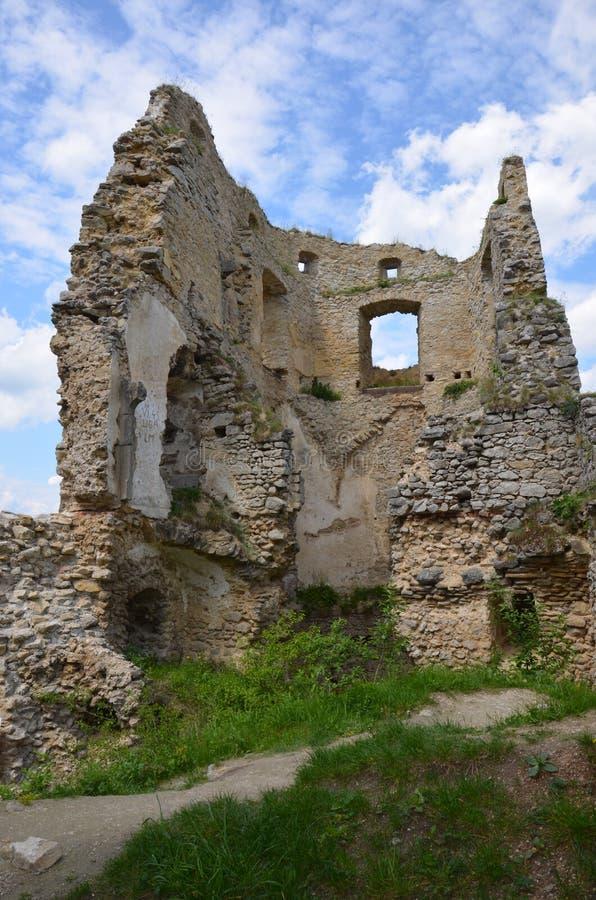 Castle Lietava, κάστρο ιστορίας της Σλοβακίας στοκ εικόνα
