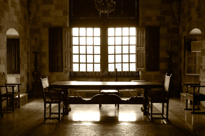 Castle living room royalty free stock photography
