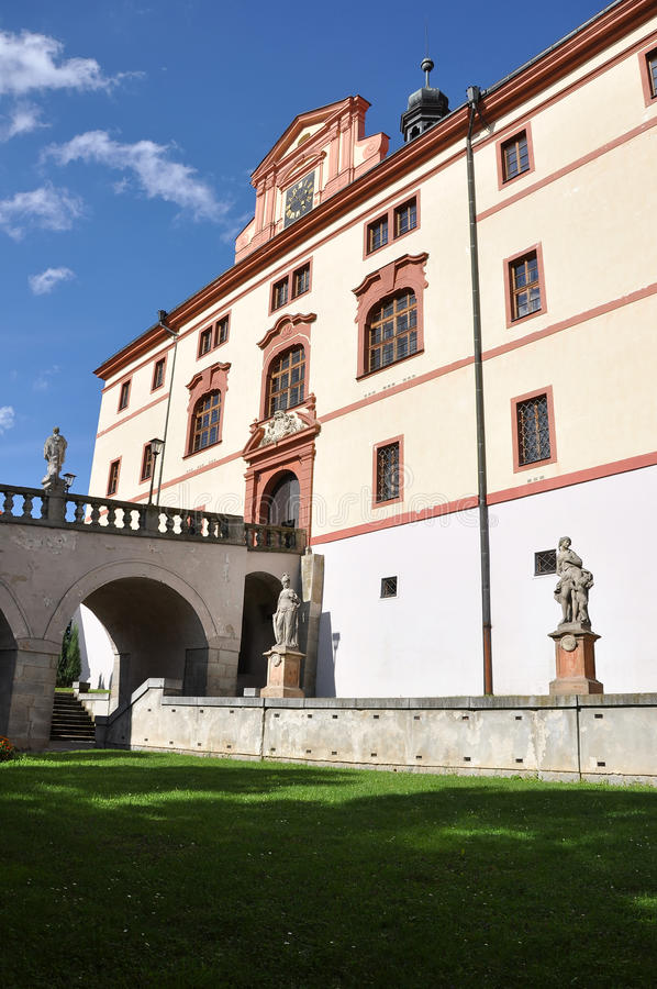 Castle Lnare. Czech republic government place, south bohemia stock photos