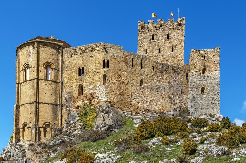 Castle of Loarre, Aragon, Spain stock images
