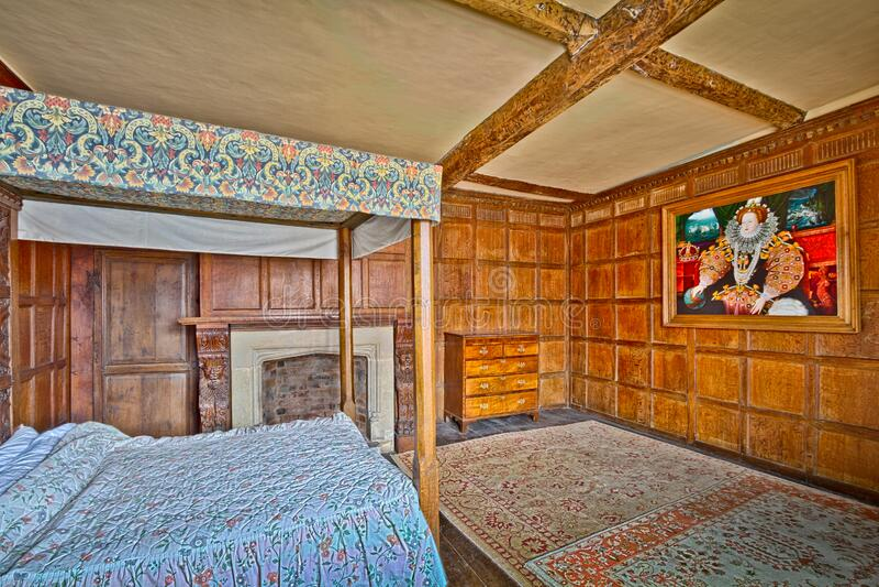 Castle Lodge Bedroom stock photos