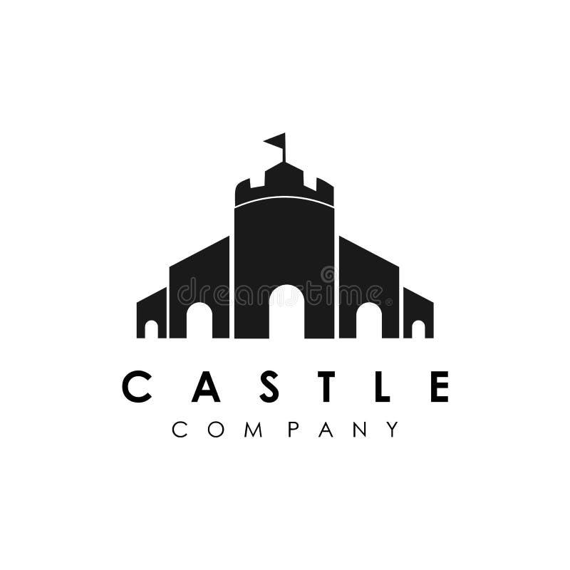 Castle logo template, building logo design vector. Line, ancient, horn, architecture, black, board, brick, buffalo, chess, clean, clever, confident, creative vector illustration