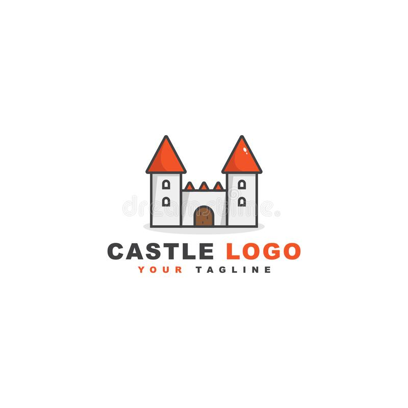 Castle logo vector design template stock images