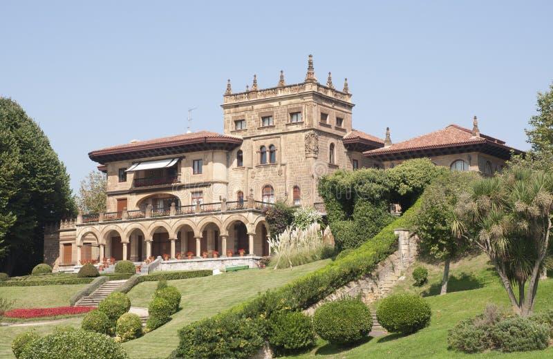 Castle look a like house in Getxo, Bilbao Spain. Private castle look a like house in Getxo in Bilbao, Spain stock photo