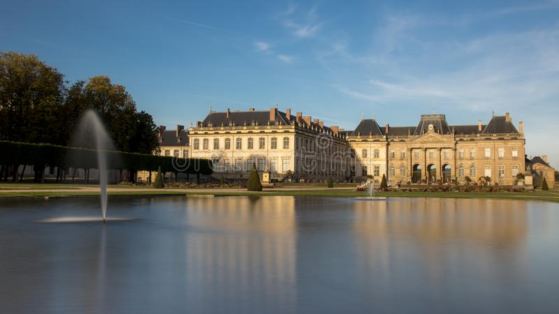 The castle of Lunéville in France stock image