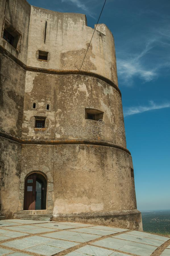 Castle made in the Manueline style at Evoramonte royalty free stock image
