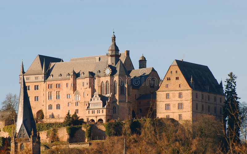 Download Castle in Marburg, Germany stock photo. Image of turret - 4366748