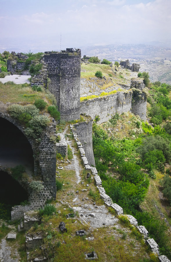 Free Castle Margat - Wall And Tower Stock Photography - 2074482