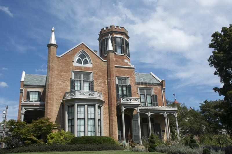 The Castle, Marietta, Ohio. This dwelling was built in the 1800s and is a well known landmark in the Marietta, Ohio area. The house is known as one of the most royalty free stock images