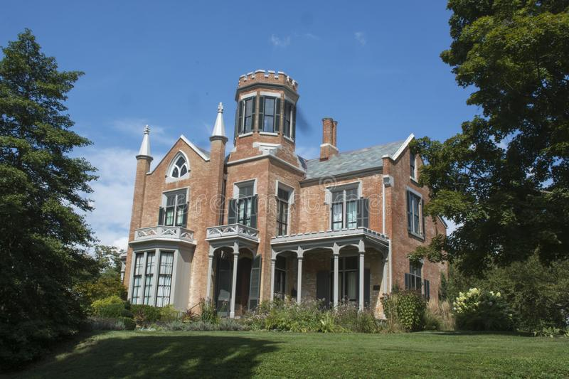 The Castle, Marietta, Ohio. This dwelling was built in the 1800s and is a well known landmark in the Marietta, Ohio area. The house is known as one of the most stock photo
