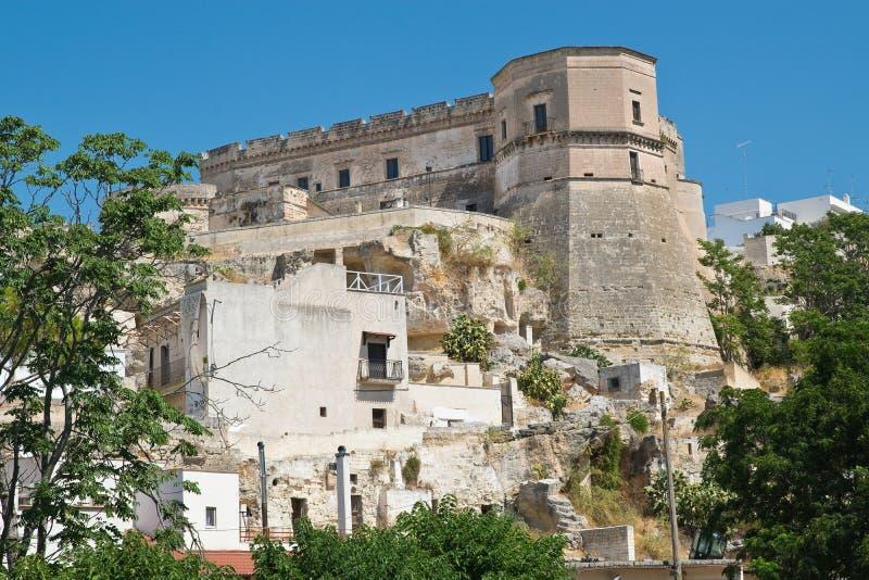 Castle of Massafra. Puglia. Italy. Perspective of Castle of Massafra. Puglia. Italy stock image
