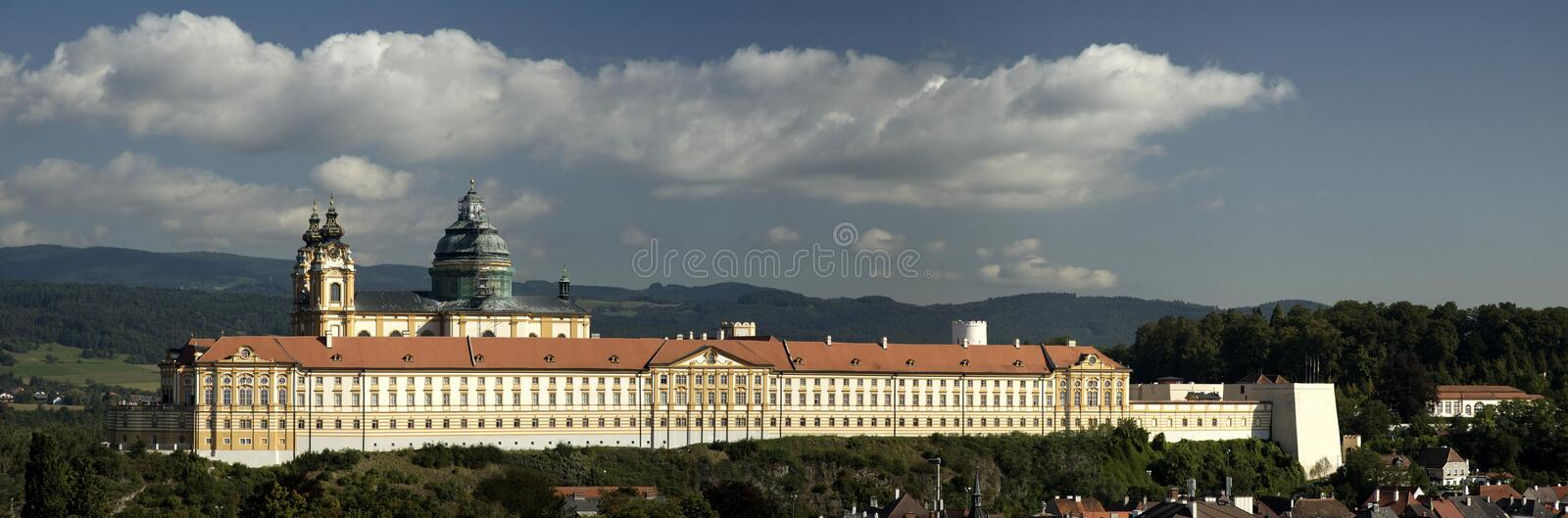 Castle Melk in Austria stock photography