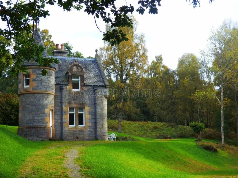 A castle in the middle of Scotland royalty free stock photos