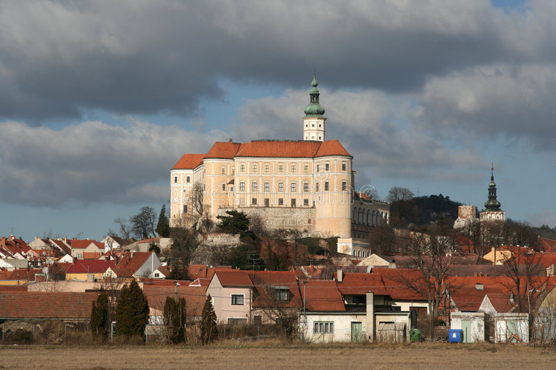 Castle in Mikulov. The old castle in Mikulov stock photo