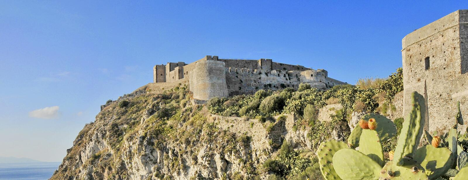 Castle of Milazzo stock images