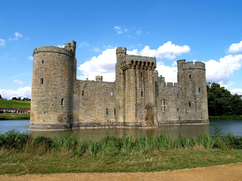 Castle and Moat royalty free stock image
