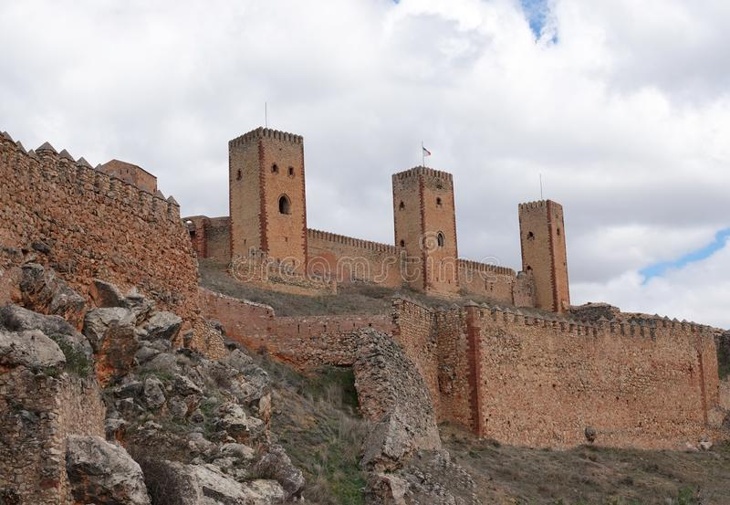 Castle of Molina de Aragon in Spain. The Castle of Molina de Aragon also called alcazar or alcazaba is a fortification in Molina de Arag stock photography