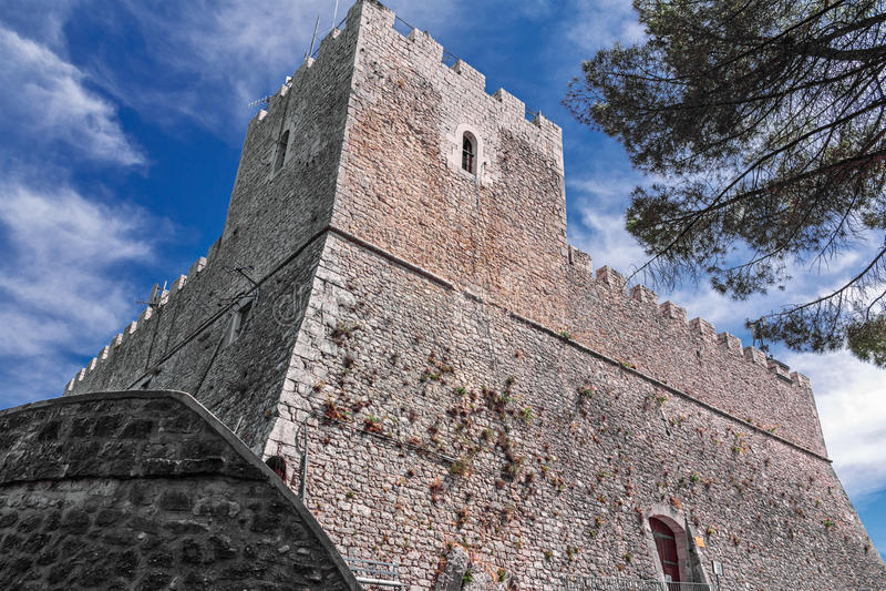 Castle monforte in campobasso stock photos
