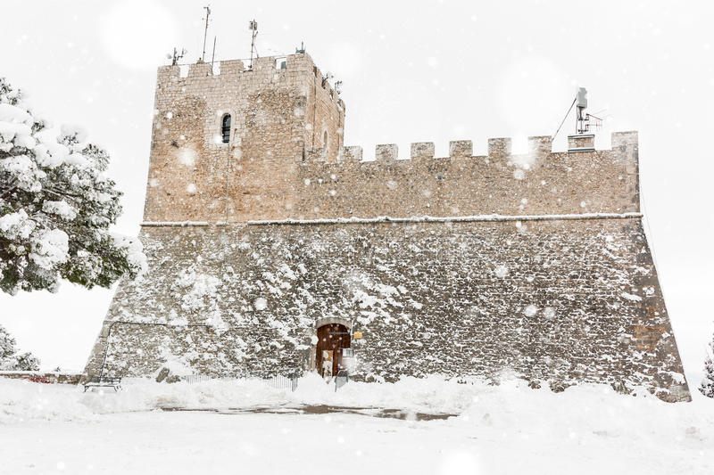Castle Monforte of Campobasso royalty free stock photography