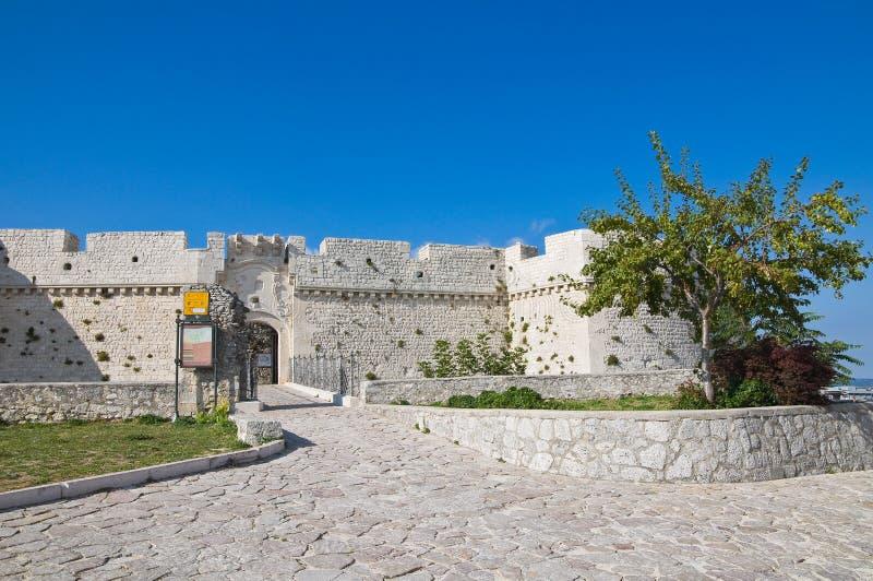 Castle Monte Sant'Angelo. Πούλια. Ιταλία. στοκ φωτογραφίες με δικαίωμα ελεύθερης χρήσης