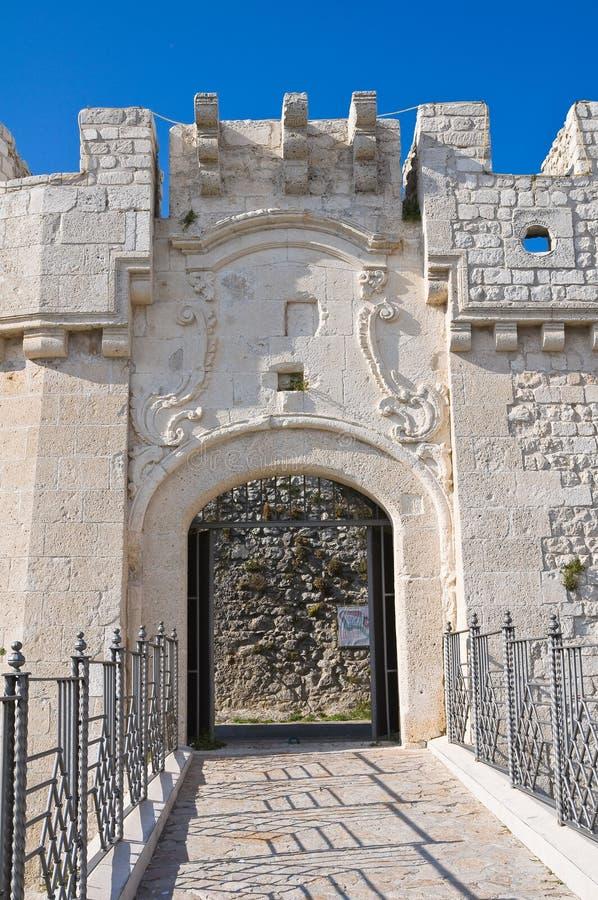 Castle Monte Sant'Angelo. Πούλια. Ιταλία. στοκ εικόνες με δικαίωμα ελεύθερης χρήσης