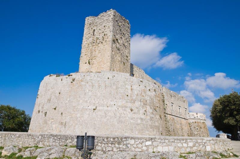 Castle Monte Sant'Angelo. Πούλια. Ιταλία. στοκ εικόνα