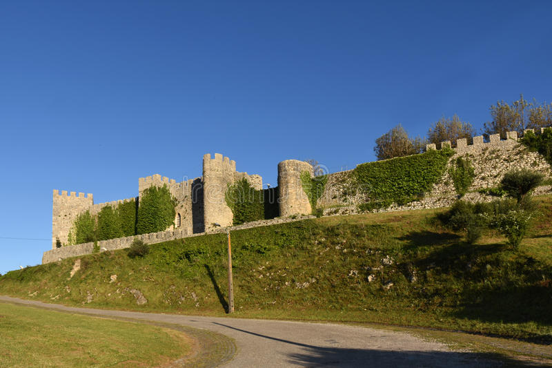 Castle of Montemor o velho, Beiras region,. Portugal royalty free stock image