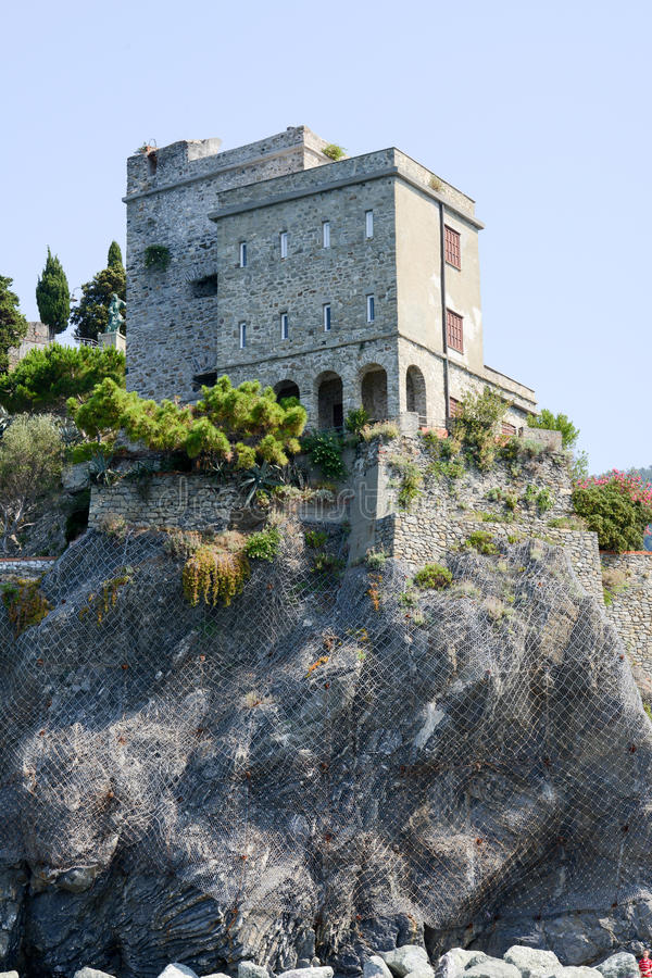 The castle of Monterosso on Cinque Terre stock photography