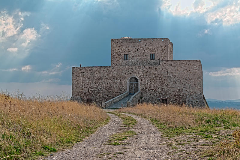 Castle of Monteserico. In Genzano of Lucania royalty free stock photography