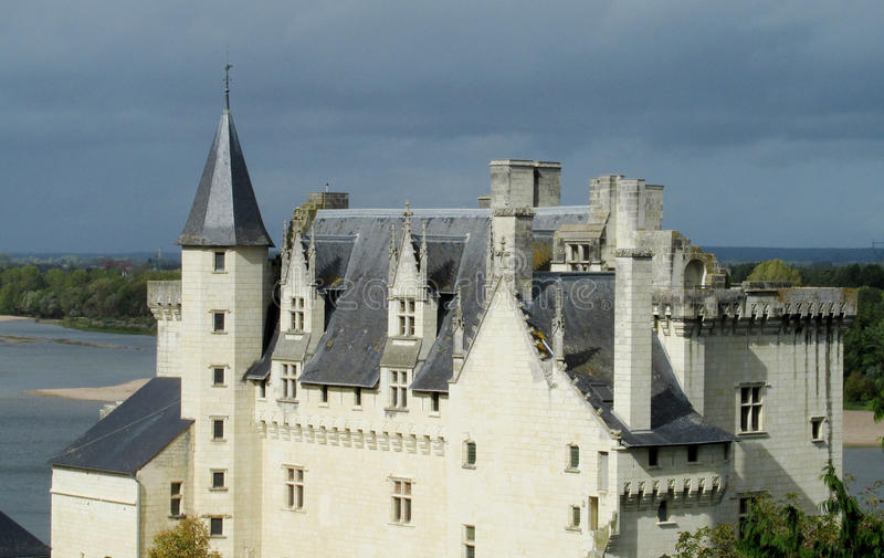 Castle Montsoreau in France royalty free stock images