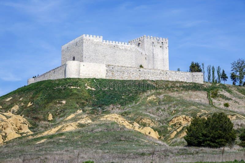 Castle Monzon de坎波斯 库存图片