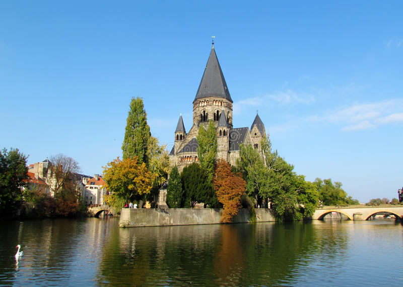 Castle on Moselle stock photo