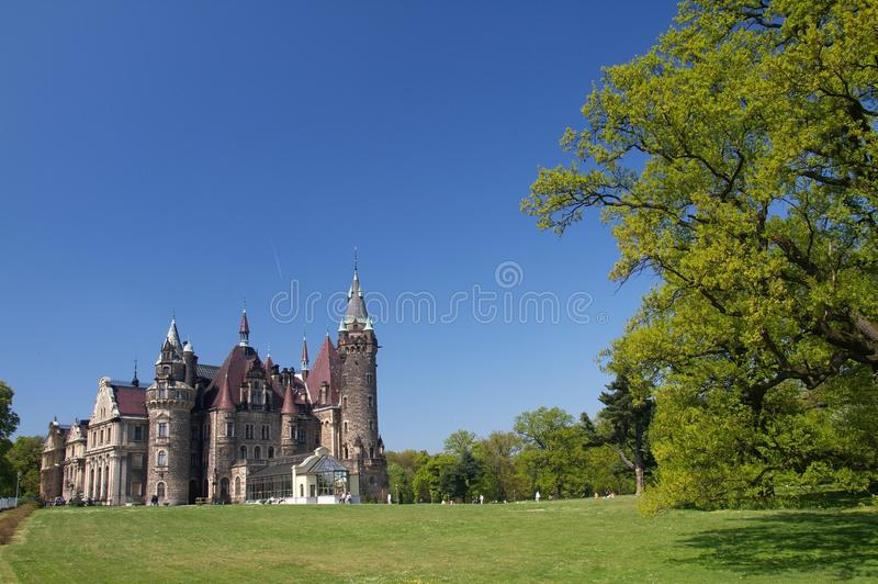 Castle in Moszna royalty free stock images