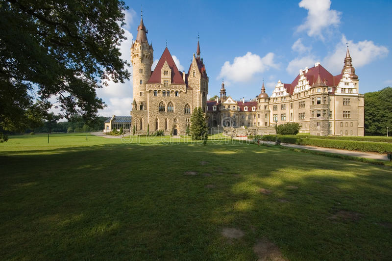 Castle in Moszna royalty free stock photography