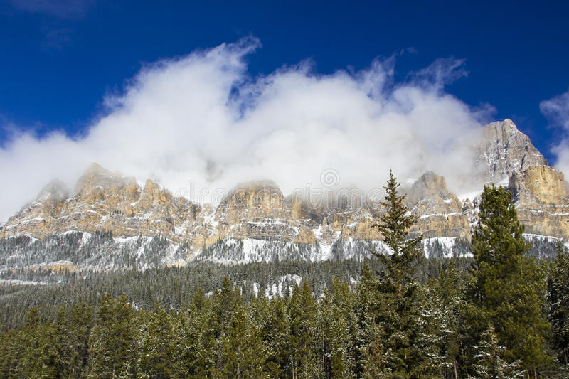 Castle Mountain stock photo