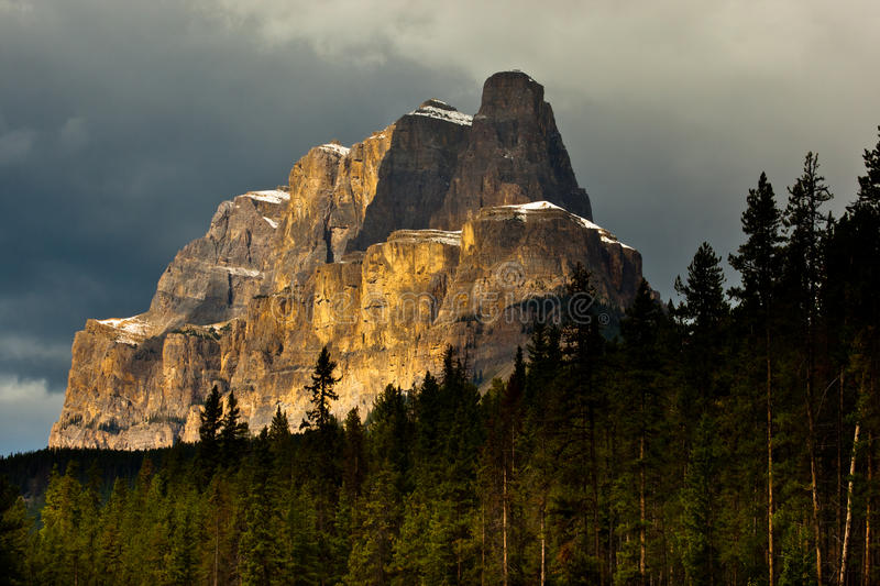 Download Castle Mountain stock photo. Image of national, storm - 27254002