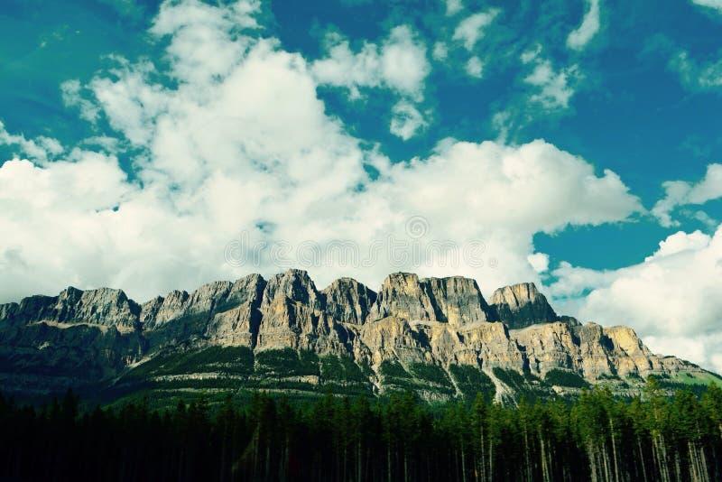 Castle mountain Alberta stock photography