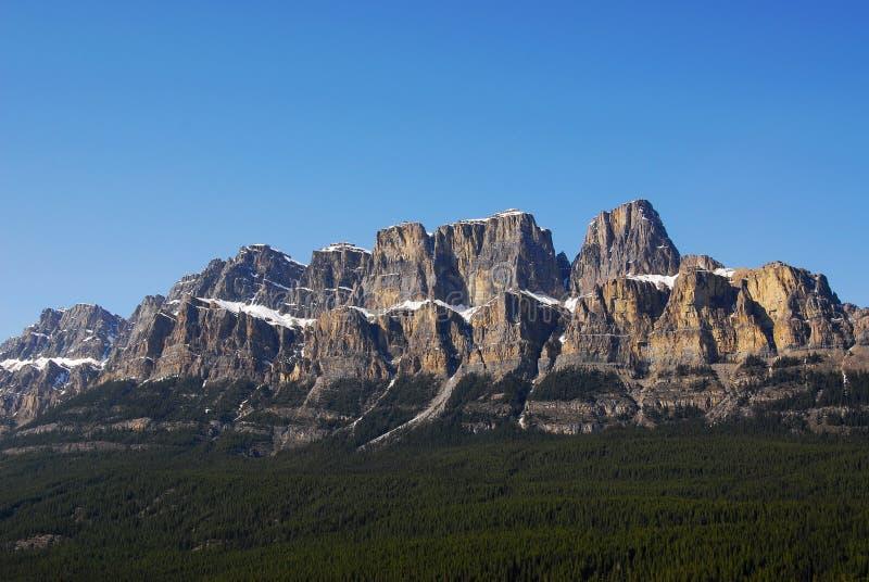 Castle mountain in banff royalty free stock photos
