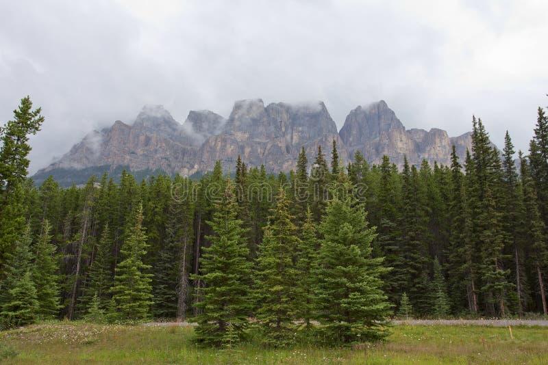 Castle Mountain, Banff. Castle Mountain in Banff National Park, Alberta, Canada stock photography
