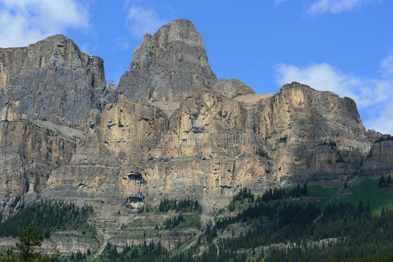Castle Mountain in Banff National Park royalty free stock image