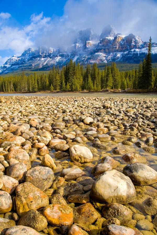 Castle Mountain in Banff National Park, Canada. royalty free stock photo