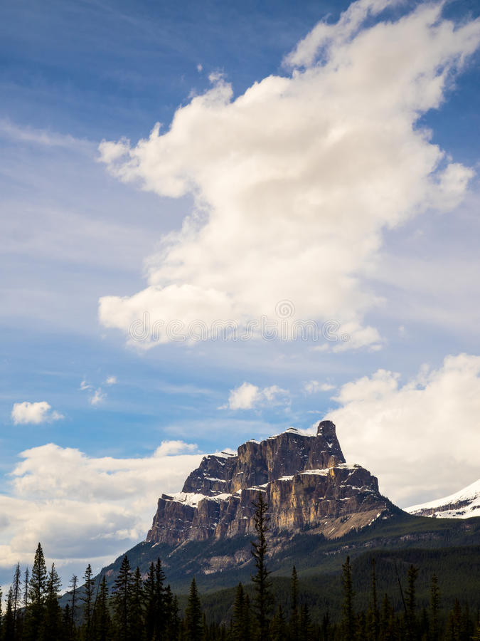 Castle Mountain royalty free stock images