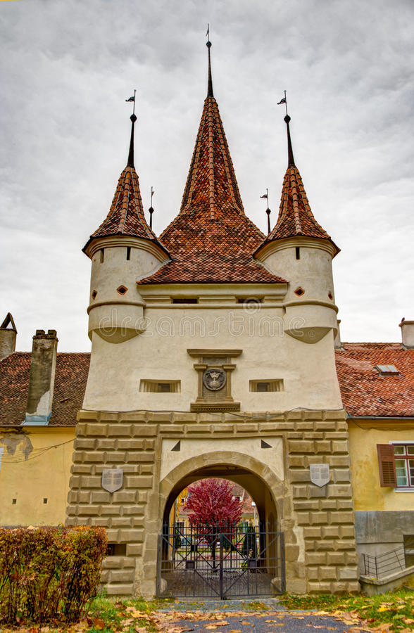 Castle near Brasov, Transylvania stock image