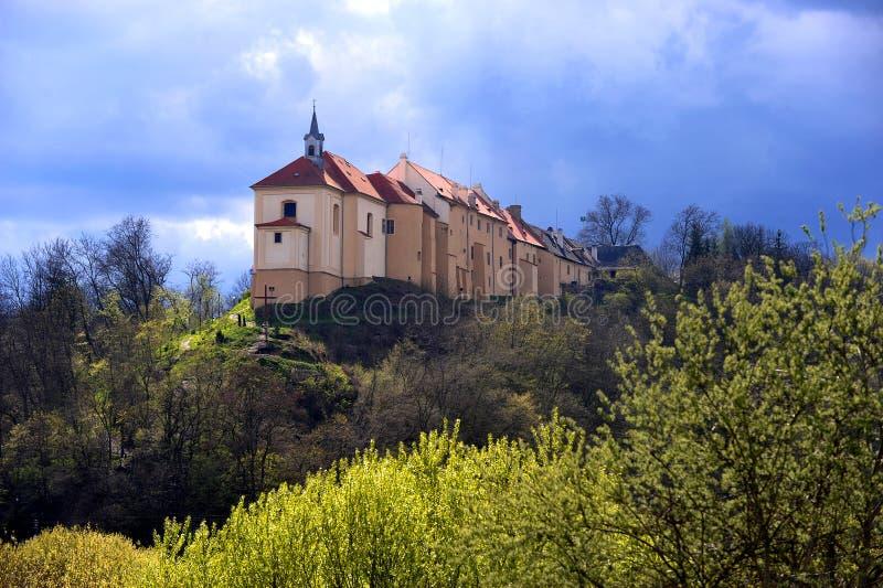 Castle Nižbor. Baroque castle in Nižbor, central Bohemia, Czech republic royalty free stock photo