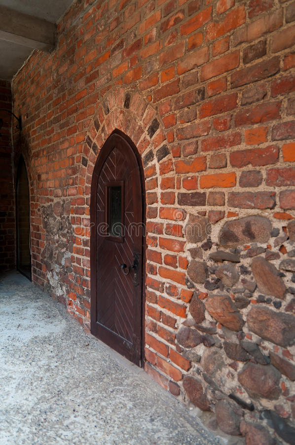 Castle in Nidzica. Medieval castle in Nidzica - Poland royalty free stock photo