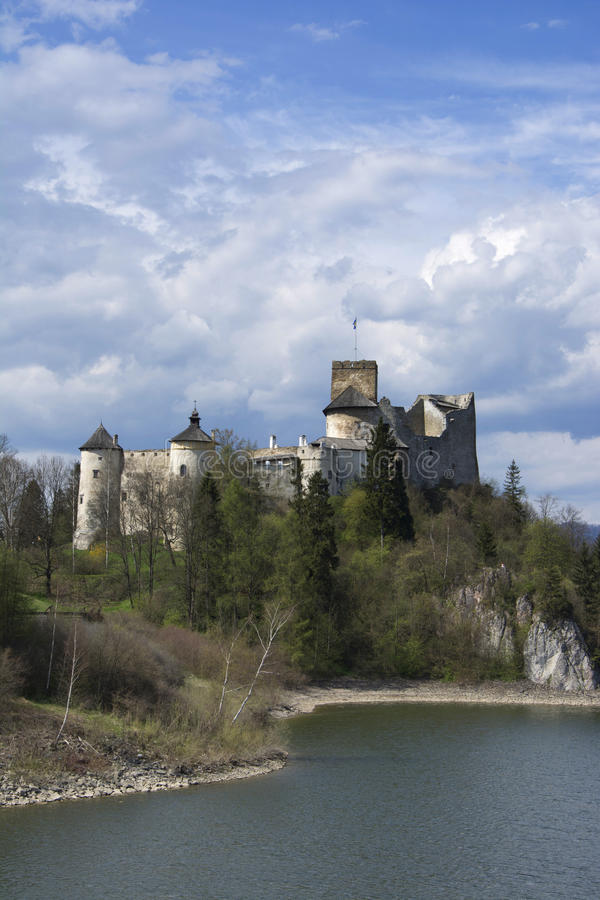 Castle in Nidzica. Medieval castle in Nidzica (Poland stock photography